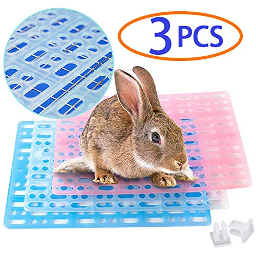 Rabbit Cage Summer Cool Mat,Bunny Cage Accessories,Hole