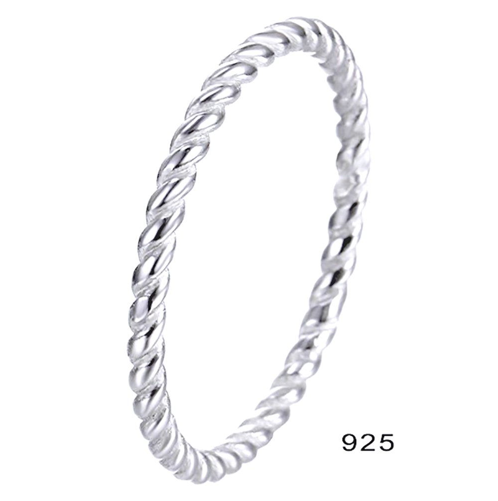 BORUO 925 Sterling Silver Ring, Celtic Knot Infinity Promise Rings 2mm Size 8