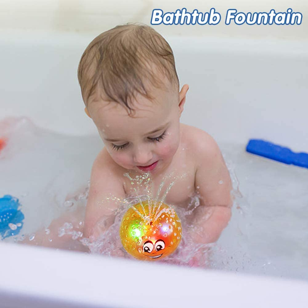 LED Light Toys Waterproof Kids Fun Bathroom Water Induction In Tub Bath Time C