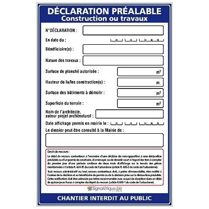 Declaration Prealable Construction Ou Travaux Avec œillets Aux 4