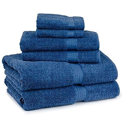 Cambridge Toalla Contessa - 6 Piezas Juego de Toallas de baño, tamaño Mediano Azul: Amazon.es: Hogar