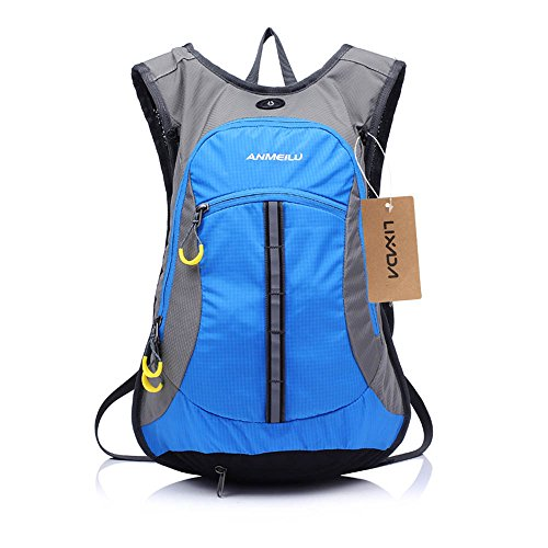 ANMEILU 15L Water-resistant Cycling Backpack Men Women Shoulder Outdoor Bike Riding Mountain Bicycle Travel Hiking Camping Running Water Bag Blue