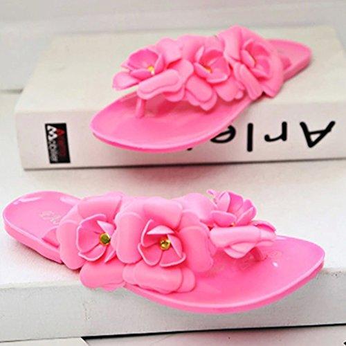 MagiDeal Zapato Plano de Mujeres Sandalias de Bohemia Zapatillas de Playa de Vacaciones 5 Colores y 6 Tallas Rosa