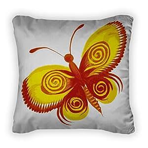Gear New Yellow Butterfly Throw Pillow