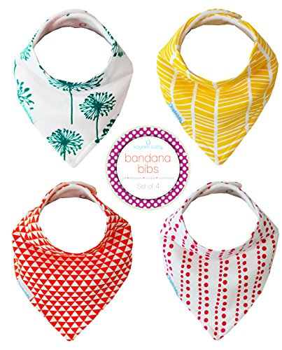 Kaydee Baby Unisex Soft & Absorbent Bandana Bibs - For Boys and Girls