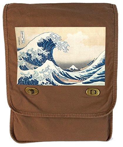 Tenacitee The Great Wave off Kanagawa Java Canvas Field (Wave Knitting Bag)