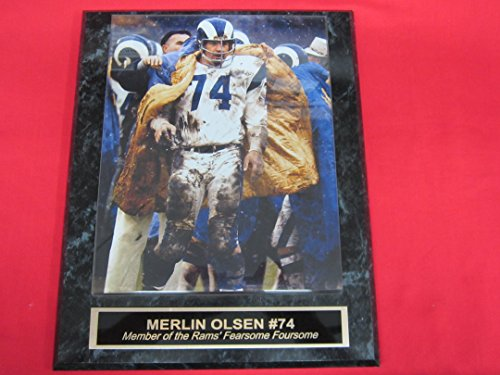 Los Angeles Rams MERLIN OLSEN Collector Plaque w/8x10 Photo by J & C Baseball Clubhouse