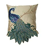 Thro by Marlo Lorenz 4182 Fancy Peacock 16 by 16-Inch Pillow, Multi