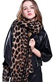 Women Winter Leopard Scarf Cashmere Feel Pashmina Shawls And Wraps Fashion Scarf