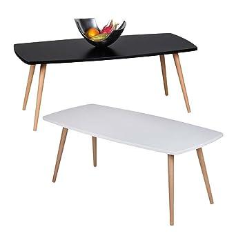 FineBuy Design Couchtisch SKANDI 110 x 50 x 42 cm Form Rechteckig  Skandinavischer Retro Look | Matt Lackierter Wohnzimmertisch mit  Holz-Gestell | ...