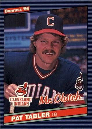 Amazoncom 1986 Donruss Baseball Card 129 Pat Tabler Mint