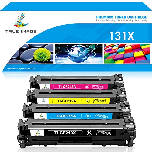 True Image Compatible Toner Cartridge Replacement for HP 131X CF210X Toner for HP 131A CF210A CF211A CF212A CF213A HP Laserjet Pro 200 Color M251nw M251n M251 M276n M276nw Canon MF8280Cw Printer Ink ()