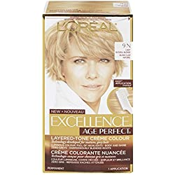 L'Oreal Paris ExcellenceAge Perfect Layered Tone Flattering Color, 9N Light Natural Blonde(Packaging May Vary)