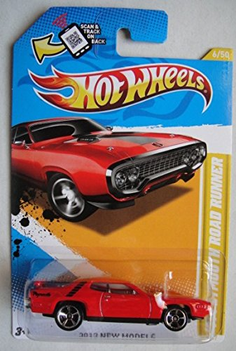 (HOT WHEELS 2012 NEW MODELS, RED '71 PLYMOUTH ROAD RUNNER 6/50)