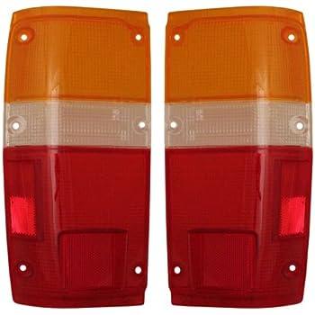 1984-1988 Toyota Pickup Truck & 1984-1989 4-Runner 4Runner Taillight Taillamp Rear Brake Tail Light Lamp (LENS ONLY) Pair Set Left Driver AND Right ...
