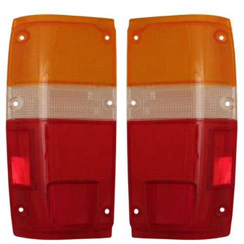 1984-1988 Toyota Pickup Truck & 1984-1989 4-Runner 4Runner Taillight Taillamp Rear Brake Tail Light Lamp (LENS ONLY) Pair Set Left Driver AND Right Passenger Side (1984 84 1985 85 1986 86 1987 87 1988 88 1989 89)