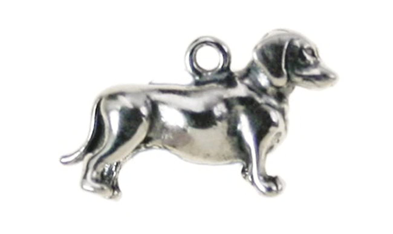 Sterling Silver 3D Dachshund Pet Dog Charm