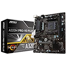 MSI ProSeries AMD Ryzen A320 DDR4 VR Ready USB 3 micro-ATX Motherboard (A320M PRO-VD PLUS)