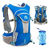 TRIWONDER Hydration Pack Backpack 12L Professional Outdoors Mochilas Trail Marathoner Running Race Hydration Vest (Blue – with 2L Water Bladder) Review
