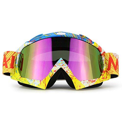 Motorcycle Goggles Dirt Bike ATV Motocross Goggles Glasses for Men Women Youth Kids