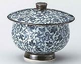 Karakusa 3.1inch Set of 5 Japanese Tea Cups White porcelain Made in Japan