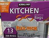 #3: Kirkland Signature Drawstring Kitchen Trash Bags - 13 Gallon - 200 Count