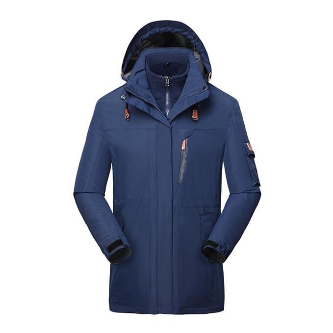 3 in1 para hombre Invierno Impermeable Chaqueta De Montaña de forro polar perchero de pared de chaqueta de nieve de esquí: Amazon.es: Ropa y accesorios