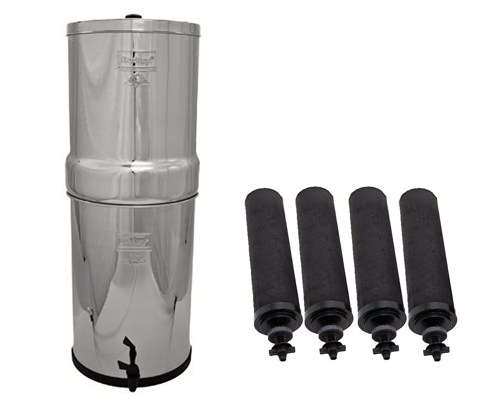 Berkey CRN8X4-BB Crown Water Purification System with 4 Black Elements