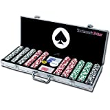Trademark Poker 500 4-Aces Poker Chip Set with Aluminum Case, 11.5gm