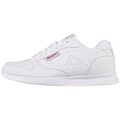 Kappa New York, Sneakers Basses Mixte Adulte, Blanc (White/Black), 38 EU