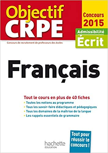 Livres gratuits CRPE en fiches : Français epub, pdf