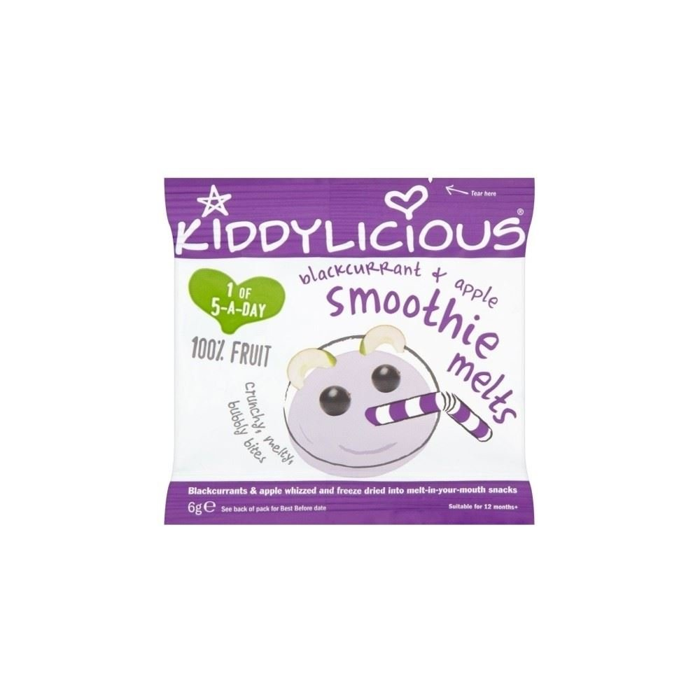 Kiddylicious Apple & Blackcurrant Smoothie Melts (6g) Grocery