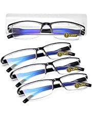 LUFF 4Pcs Anti-Blue-ray Reading Glasses Portable Ultra-Light Readers for Unisex