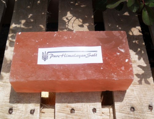 (Natural Himalayan Salt Tile / Brick / Slab Pink 8x4x2-Inch)
