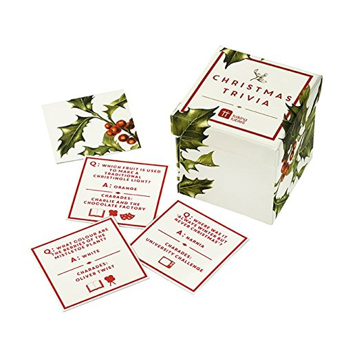 Talking Tables Botanical Christmas Sprout Trivia Game, Multicolor Charade Dinner