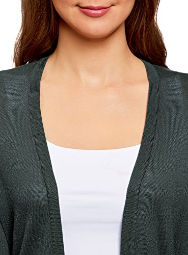 Fermeture Ultra oodji Tricot Cardigan Vert sans Femme 6e00n en TYT6pwAgxq