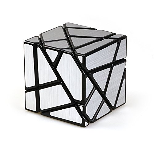 Cuberspeed Fangcun Ghost 3x3 Black Magic Cube 3x3 Ghost 3x3x3 Speed Cube Silver Sticker