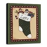 Stocking II Love Framed Print 45.00''x33.49'' by Debbie McMaster