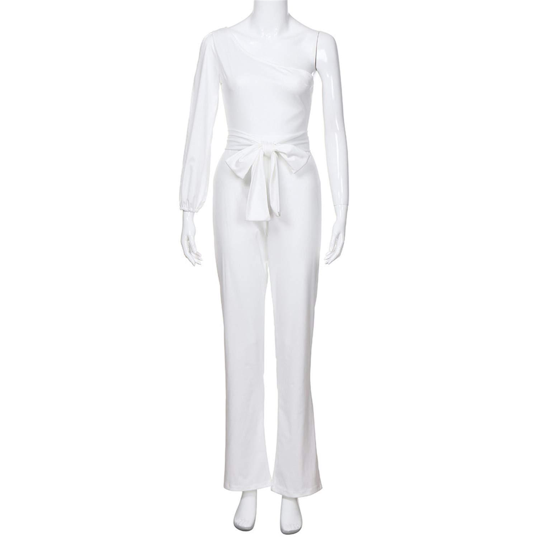 Jumpsuits for Women Elegant White Wide Leg Pants Jumpsuit