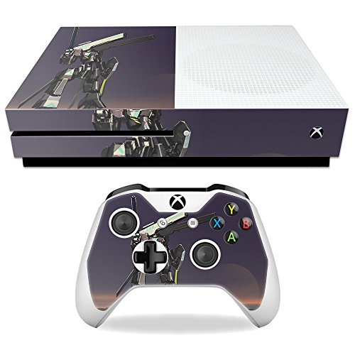 MightySkins Skin Compatible with Microsoft Xbox One S - Teal Steel | Protective, Durable, and Unique Vinyl Decal wrap Cover | Easy to Apply, Remove, and Change Styles | Made in The USA
