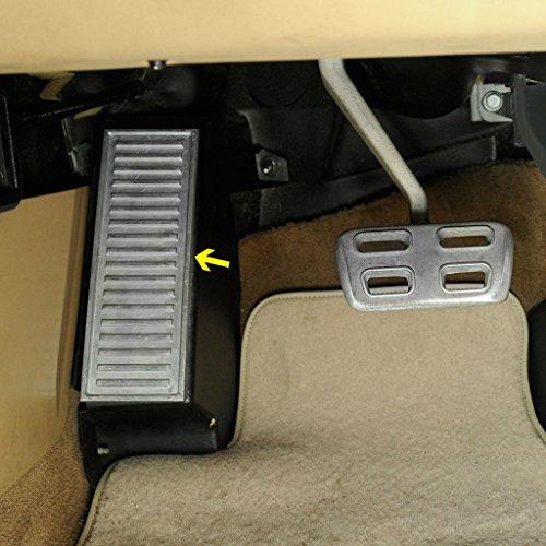 C5 Corvette Custom Aluminum Dead Pedal Fits: All 97 through 04 Corvettes