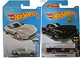 Hot Wheels 2016 Batman Classic TV Series Batmobile & Spectre Aston Martin DB10 James Bond 2-Car Bundle Set