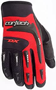Cortech Mens DX 2 Motorcycle Gloves Black/Red Large L