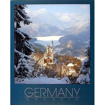 Amazon.com: Germany Neuschwanstein Castle Wall Decor Art Print ...