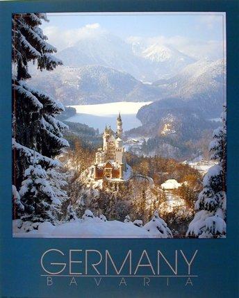 Castle Wall Decor Germany Neuschwanstein Art Print Poster (16x20) ()