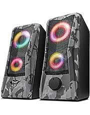 Trust Gaming GXT 606 Javv 23379, Głośniki Gamingowe USB, Szary