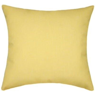 TPO Design Sunbrella Buttercup Indoor/Outdoor Solid Patio Pillow 18x18: Home & Kitchen