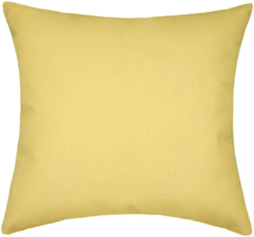 TPO Design Sunbrella Buttercup Indoor Outdoor Solid Patio Pillow 18×18