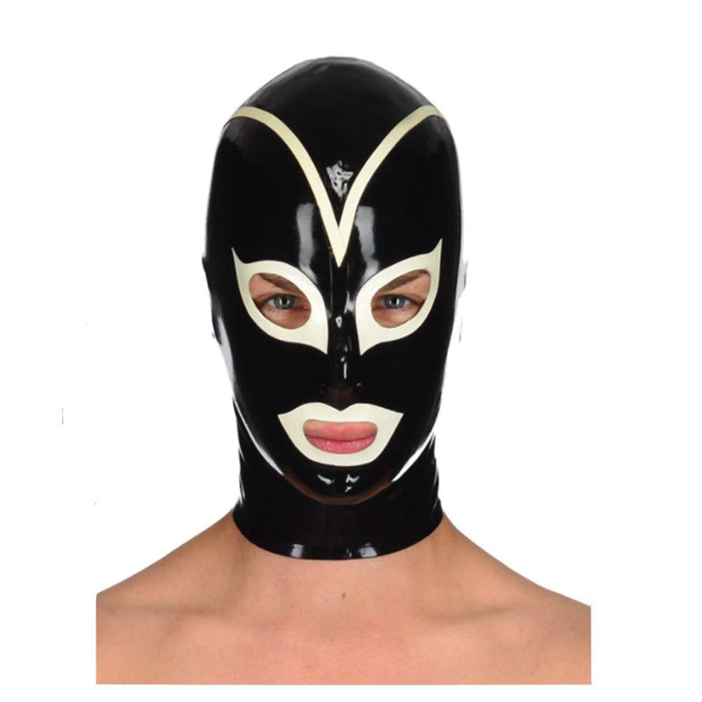 Amazon.com: Realistic Latex Hood Sexy Ninja Rubber Mask ...