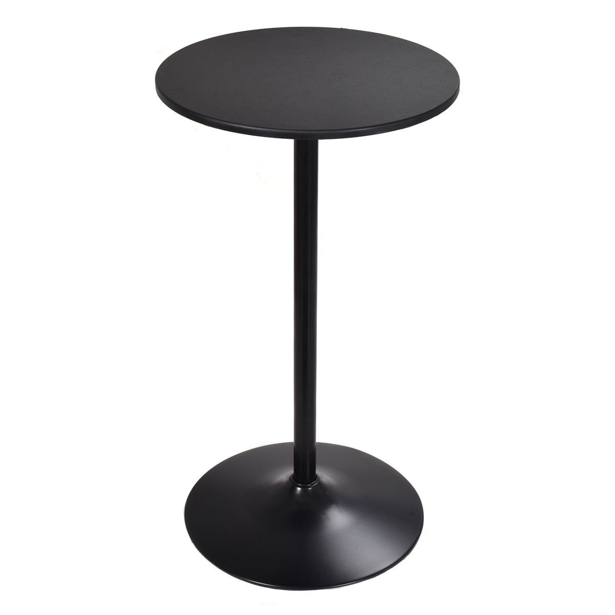 COSTWAY High Table Pub Bar Table Bistro Round Top Black, 42-Inch Height
